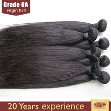Factory price virgin 100% human hair silky yaki perm weave