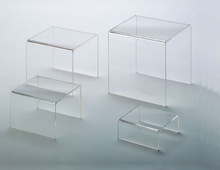high clear tabletop acrylic riser stand shelf for store shop display hot selling