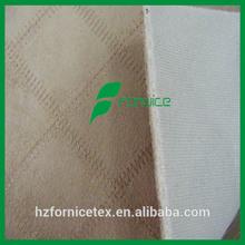 100% poliéster bordado de camurça tecido ligado com espuma e malha / sintético tecido de camurça com espuma LXY-a203