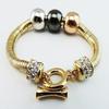 Vintage Silver Trollbeads Bracelet Fashion 316L Gold Snake Chain Bracelet Fashion Charm Fit Pandora Bracelet