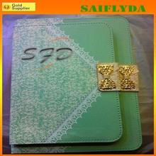 Korea style bows lace design leather flip case for ipad ipad mini