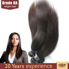 Good feedback brazilian 100% human hair silky yaki perm weave