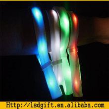 festival fabric wristbands remote control led bracelet