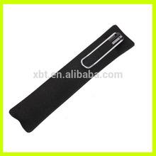 Black Leather Single Pencil Sleeve
