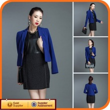 2014 High Quality Blue White Cotton Ladies New Custom Band Jackets