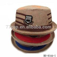 Children fedora hat with badge kids