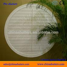 round window shutters