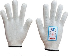 7/10 gauge white knitted cotton gloves manufacturer in china/hand job gloves
