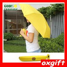 OXGIFT New Style 3 folding Banana Umbrella
