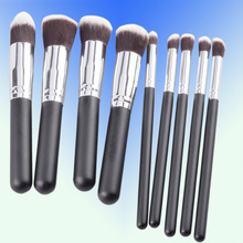 2014 best selling 10pcs brush set make up brush free samples