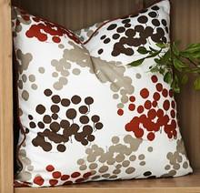 colorful fruit cherry painting cushion ,polka dot round point cushion