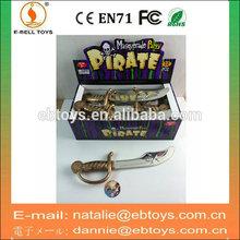 Más nuevo pirata cuchillo de plástico del juguete de los cabritos cuchillo