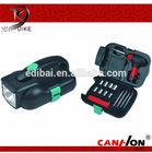 24pcs tool kits sets flash flight tool kits sets with flashlight torch