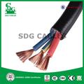 venta caliente 3 núcleo del cable eléctrico de tipo redondo para la construcción de edificios