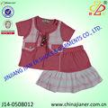نمط جديد 2014 طفلة ملابس الاطفال الملابس الصيفية مجموعات المورد الصين