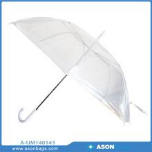 2014 Hot Sales Transparent POE Material Umbrella