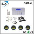 Nova 2014 saful gsm-x6 wireless segurança telas touch gsm sistema de alarme/inteligente sem fio alarme da segurança home