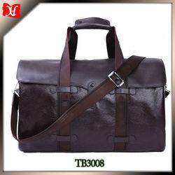 2014 new design travel bags genuine leather men golf travel bag