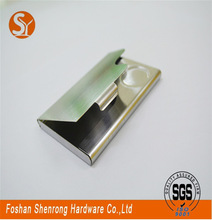 Delivery on time mens silver grey cream faux leather money clip wallet cash credit id card holder