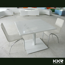 Modern marble top bistro table and chair