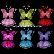 DWN-0247 Colorful butterfly wings set / Wings Headband Wand Tutu