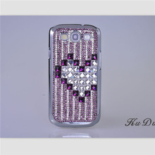 Love heart Rhinestone bling cell phone cases cover for Samsung Galaxy S3 case