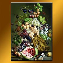 Newest design decorative home art fruit painting
