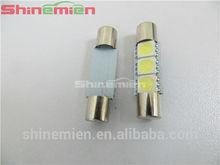 5050 festoon 3SMD 6641 LED Bulbs For Car Sun Visor Vanity Mirror Fuse Lights