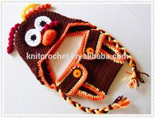 handmade Crochet Turkey Hat and Diaper Set Thanksgiving Gift for Baby and Children