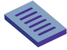 Large plastic gully grating Good flexibility with EN124 D400