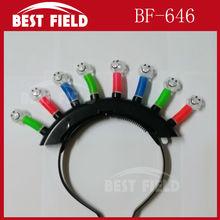 Flashing light-up LED Headband Mohawk