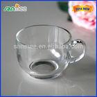 Machine Pressed Beautiful Glass Coffee Cup Handle Coffee Glasses Cups