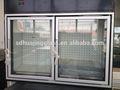 Alta qualidade com vista bonita mini-freezer portas de vidro usado para supermercados