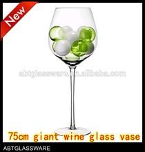 giant wine glass vase wholesale,wine shaped glass vases