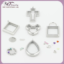 2014 New arrival stainless steel floating charms lockets wholesale