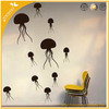 zooyoo 3D wallpaper self adhesive home decoration vinyl wall decal wall sticker removable jellyfish