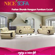 stile italiano moderno confortevole soggiorno mobili genuino set di divano in pelle di lusso qzn33
