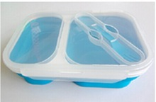 food grade collapsible large capacity 2 compartment lunch box