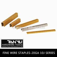 Wholesale!Fine wire staples ,galvanized common wire staples carton closing staples
