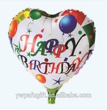 18 inches heart shaped decoration aluminium foil balloons