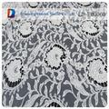 Transparente rendas em branco tule e bordado suíço tecido de renda francesa