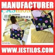 2014 summer new style printing lips fashion women handbag wholesale prices china xm263