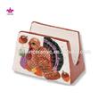 a turquia de cerâmica decoração do feriado de ação de graças suporte do guardanapo