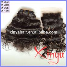"""Wholesale 4""""*4"""" virgin unprocessed remy lace front closure piece"""