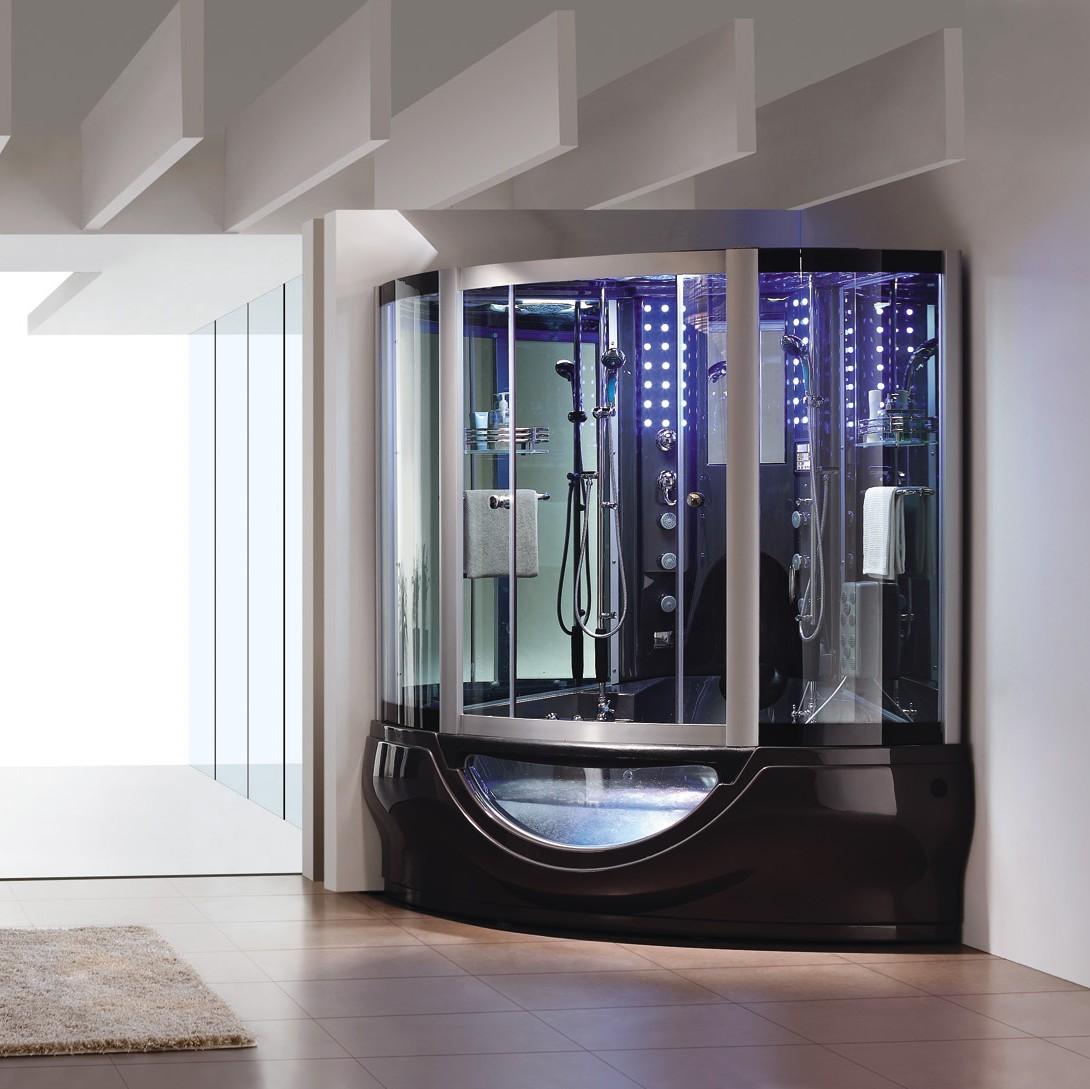 Stoomdouche prijs vrijstaande luxe douchecabine badkamer douche hamman sauna stoombad - Model badkamer met douche ...