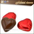 valentim coração de chocolate na massa