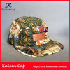 OEM Wholesale Forest Pattern 5 Panel Cap/ Hat With Leather Patch Front