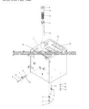 excavator pc220-8 parts 01643-30623 excavator fuel tank parts floating oil seal
