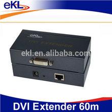 RJ45 DVI extender 60m, 60 meters DVI amplifier extender support DVI-D CAT 6