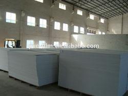 pvc foam sheet / rigid 4X8 white pvc plastic sheet
